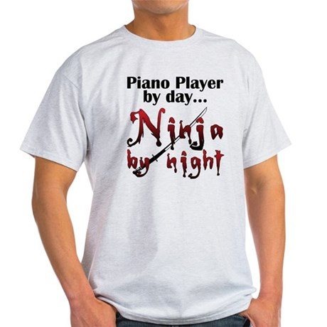 Piano Player Ninja Light T-Shirt