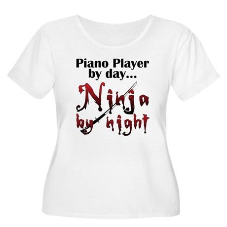 Piano Player Ninja Women's Plus Size Scoop Neck T-