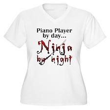 Piano Player Ninja T-Shirt