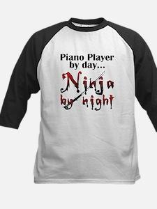 Piano Player Ninja Kids Baseball Jersey