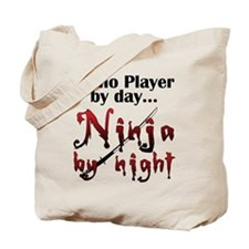 Piano Player Ninja Tote Bag