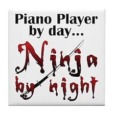 Piano Player Ninja Tile Coaster
