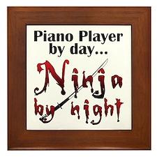 Piano Player Ninja Framed Tile