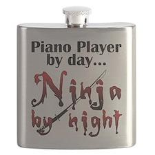 Piano Player Ninja Flask