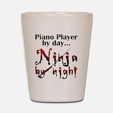 Piano Player Ninja Shot Glass