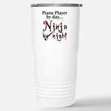 Piano Player Ninja Travel Mug