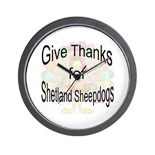 Thanks for Sheltie Wall Clock
