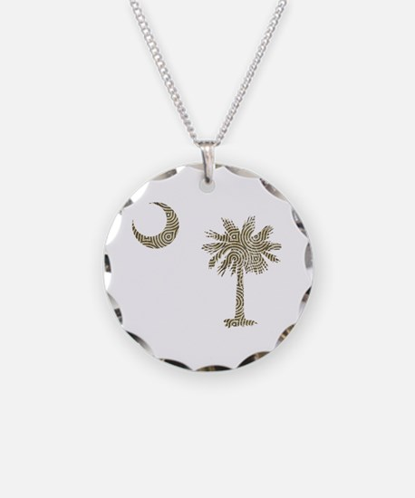 Palmetto & Cresent Moon Necklace