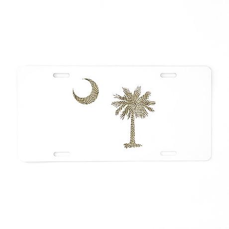 Palmetto & Cresent Moon Aluminum License Plate