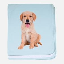 Golden Lab Puppy baby blanket
