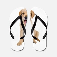 Golden Lab Puppy Flip Flops