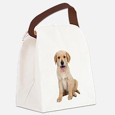 Golden Lab Puppy Canvas Lunch Bag