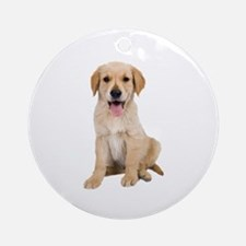 Golden Lab Puppy Ornament (Round)
