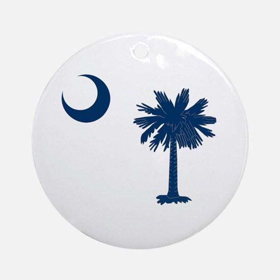 Palmetto & Cresent Moon Ornament (Round)