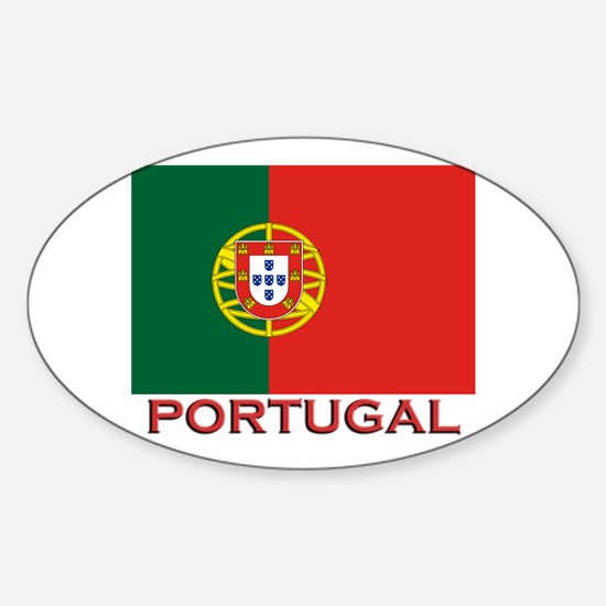 Portugal Flag Stuff Oval Decal