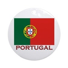 Portugal Flag Stuff Ornament (Round)