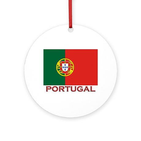 Portugal Flag Stuff Ornament (Round)