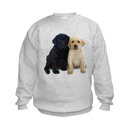 Black and White Labrador Puppies. Kids Sweatshirt