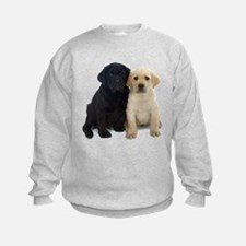 Black and White Labrador Puppies. Sweatshirt