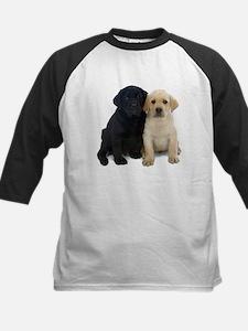 Black and White Labrador Puppies. Kids Baseball Je