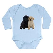 Black and White Labrador Puppies. Onesie Romper Suit