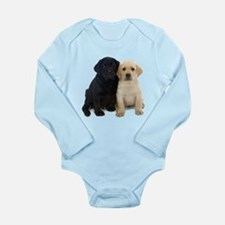 Black and White Labrador Puppies. Onesie Romper Suit