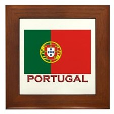 Portugal Flag Stuff Framed Tile