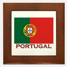 Portugal Flag Stuff Framed Tile