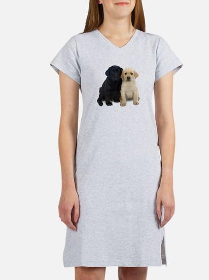 Black and White Labrador Puppies. Women's Nightshi
