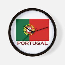 Portugal Flag Stuff Wall Clock