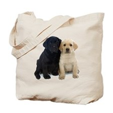 Black and White Labrador Puppies. Tote Bag