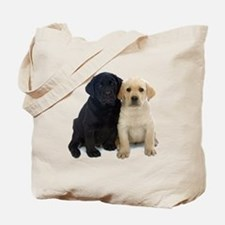 Black and White Labrador Puppies. Tote Bag