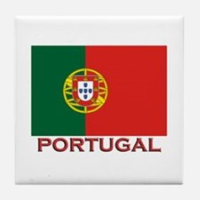 Portugal Flag Stuff Tile Coaster