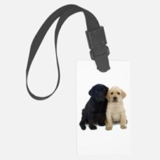 Black and White Labrador Puppies. Luggage Tag