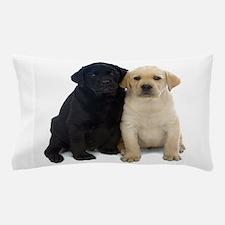Black and White Labrador Puppies. Pillow Case