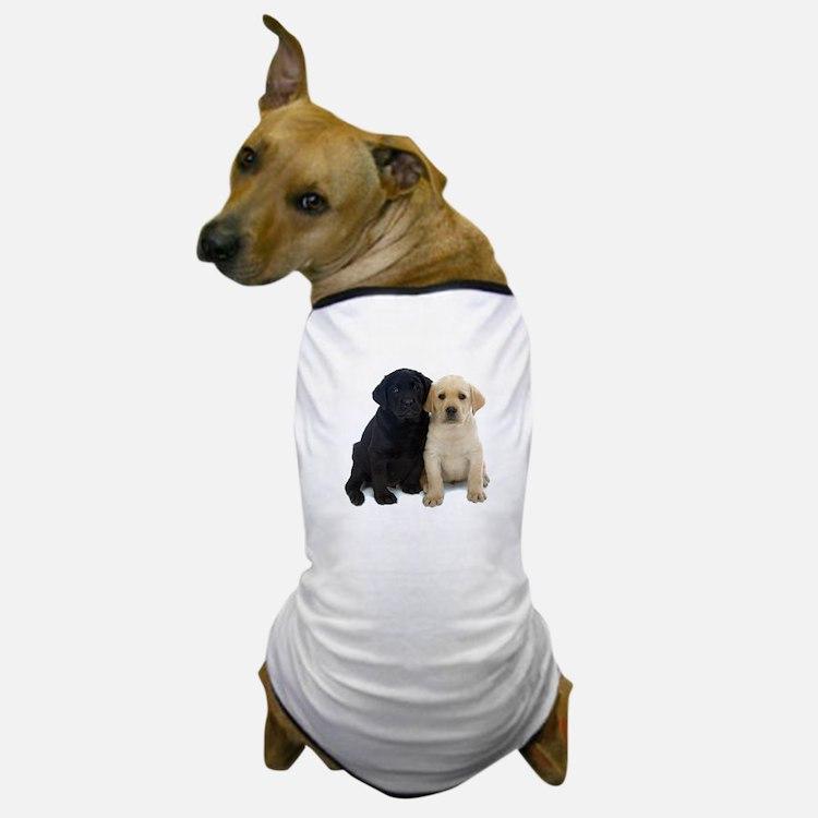 Black and White Labrador Puppies. Dog T-Shirt
