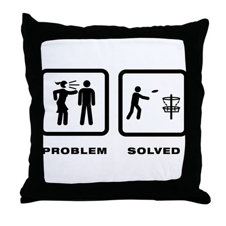 Disc Golf Throw Pillow