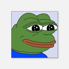 "Sad Frog Square Sticker 3"" x 3"""