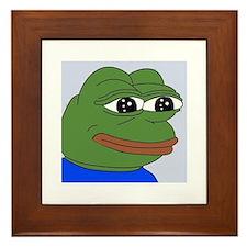 Sad Frog Framed Tile