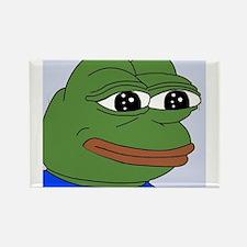 Sad Frog Rectangle Magnet