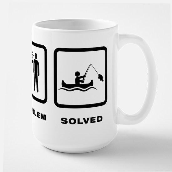 Canoe Fishing Large Mug