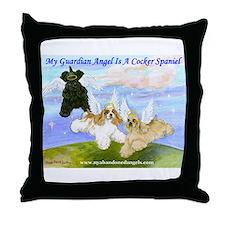 Cocker-Angels-Medium.jpg Throw Pillow