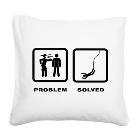 Bungee Jumping Square Canvas Pillow