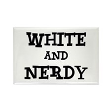 White And Nerdy Rectangle Magnet
