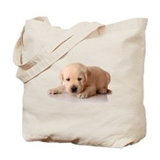Golden Lab Puppy Tote Bag