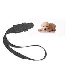 Golden Lab Puppy Luggage Tag