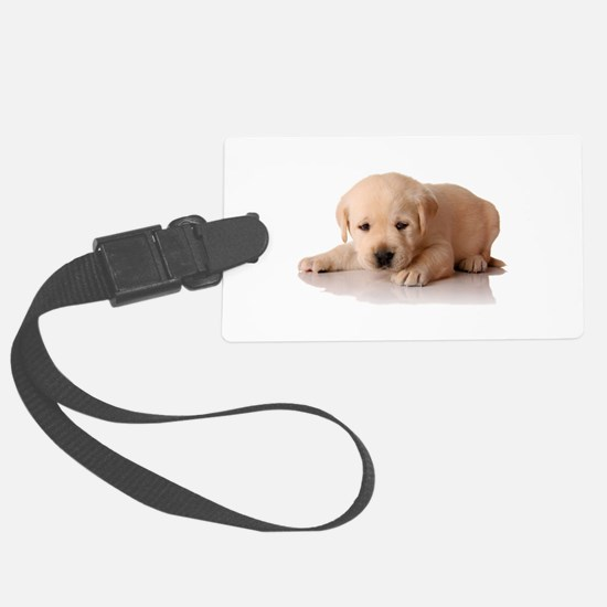 Golden Lab Puppy Luggage Tag