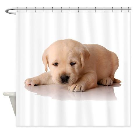 Golden Lab Puppy Shower Curtain