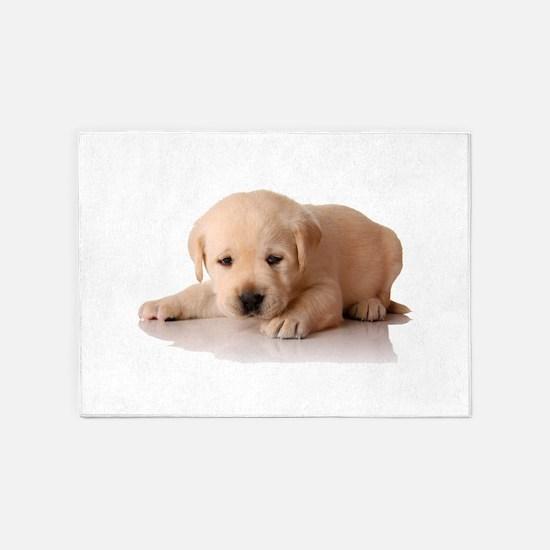 Golden Lab Puppy 5'x7'Area Rug