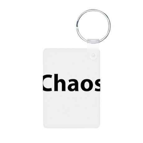 Chaos Aluminum Photo Keychain